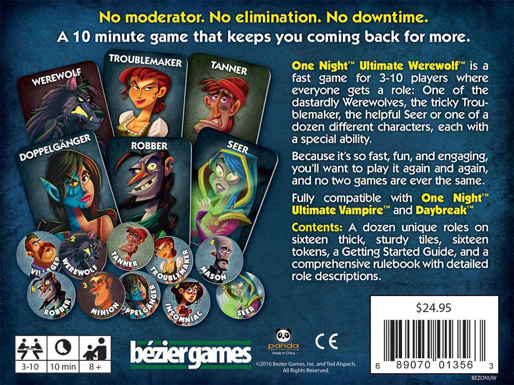 Picture of One Night Ultimate Werewolf Board Game