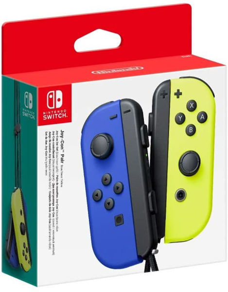 Picture of Nintendo Switch Joy-Con Controller Neon Blue and Yellow Pair
