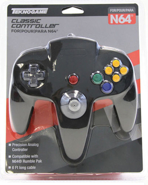 Picture of Teknogame N64 Classic Controller for Nintendo 64 - Black