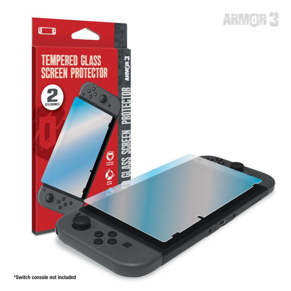 Picture of Hyperkin Tempered Glass Screen Protector (2-Pack) for Nintendo Switch