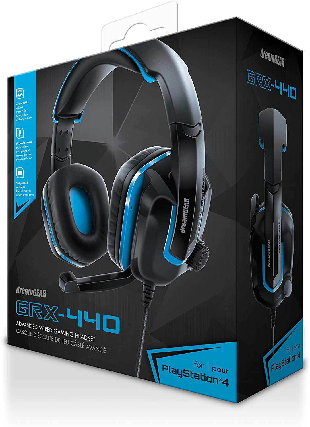 Picture of dreamGEAR GRX-440 Wired Advanced Gaming Headset for PS4 - Black/Blue