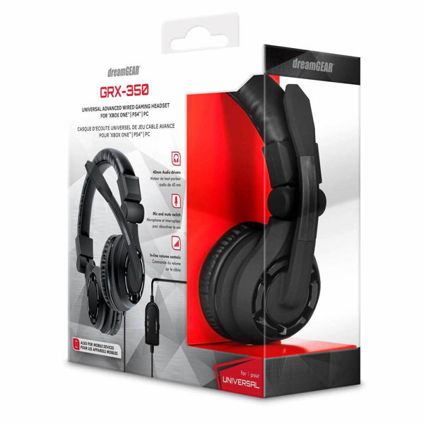 Picture of dreamGEAR GRX-350 Wired Universal Gaming Headset - Black