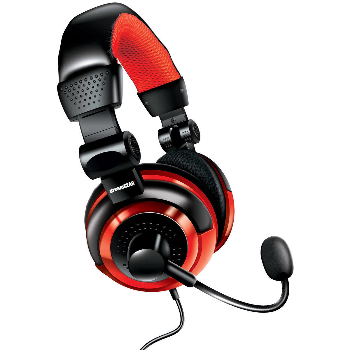 Picture of dreamGEAR Wired Universal Elite Headset - Black/Red