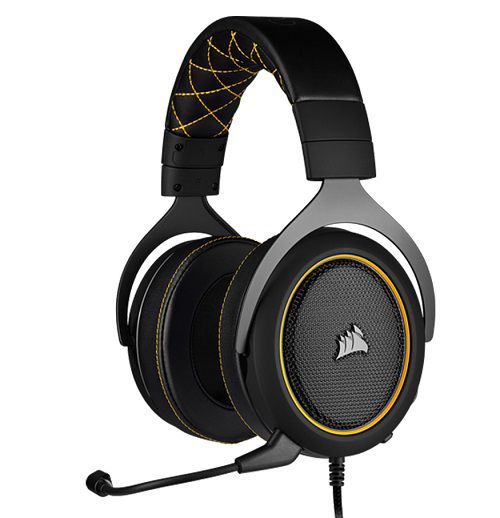 Picture of Corsair HS60 PRO Black Yellow Trim STEREO 7.1 Surround Gaming Headset