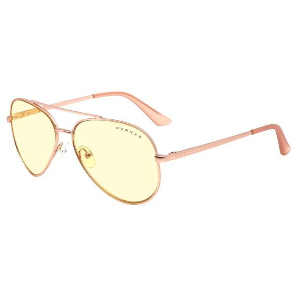 Picture of Maverick Amber Rose Gold Indoor Digital Eyewear - for eye strain