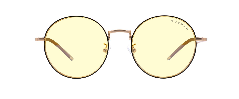 Picture of Ellipse Amber Black Gold Indoor Digital Eyewear - eye strain glasses